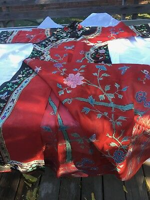 Fine Chinese  Manchu woman's informal summer dress  Beautiful good  Condition!