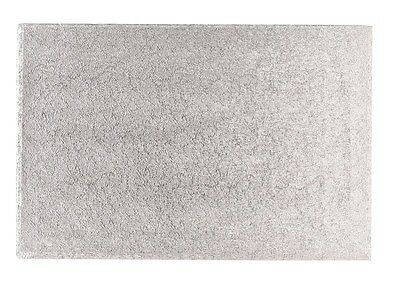 Cake Board Oblong/Rectangle Silver Fern Drum - choose your size