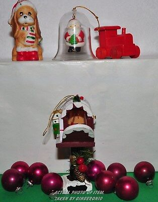 Lot of ornaments assortment of wood, vintage, ceramic, & other