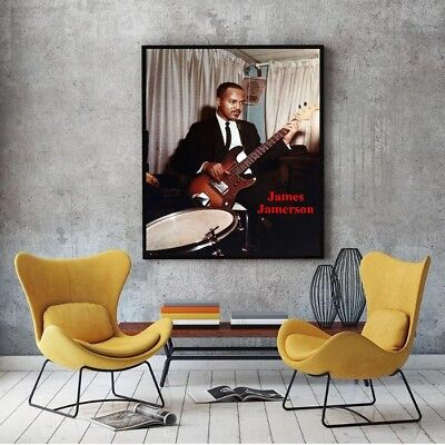 "Large Size 24""x32 James Jamerson Tribute Poster - Funk Machine Bass"