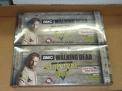 2016 Topps THE WALKING DEAD SURVIVAL BOX FACTORY SEALED HOBBY BOX LOT OF 2 BOXES