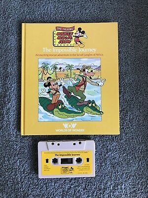 Mickey Mouse World of Wonders Variety Series Book and Cassette Tape Set of 4