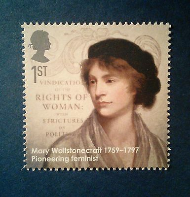 """""""Mary Wollstonecraft."""" Illustrated on a stamp - Unmounted Mint"""