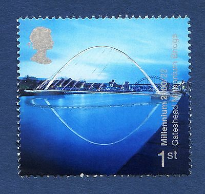 """Millennium Bridge - Gateshead"" illustrated on 2000 stamp - Unmounted mint"
