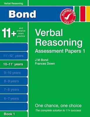 Bond Assessment Papers Verbal Reasoning 10-11+ yrs Book 1 by Thomas, Malcolm The