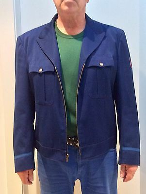 Tailored 50's Uniform Short Jacket - Navy Blue - L-XL - Made In USA - Nice!