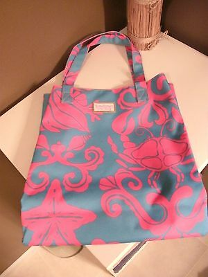 Lilly Pulitzer for Estee Lauder~Tote Bag~Crab & Starfish~Pink & Blue