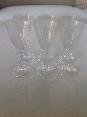 Set of 6 Crystal Port/Sherry/Liquer Glasses
