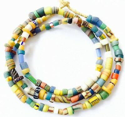 Variety of Ghana Antique African Beads Glass African Trade Beads