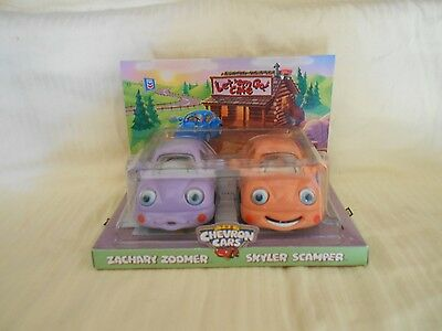 The Chevron Cars Zachary Zoomer & Skyler Scamper Toy Cars 1999