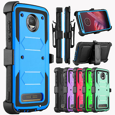 For Motorola Moto Z2 Play /Z2 Force Case Belt Clip Holster Kickstand Phone Cover