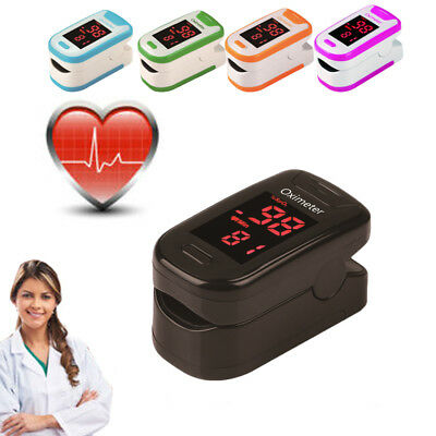 Portable Fingertip Pulse Oximeter Heart Rate Monitor Blood Saturation Hemoglobin