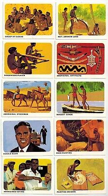 Sanitarium Weet-Bix - The World of The Aborigine (1969) 10 collector cards
