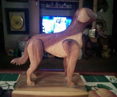 Large Breed, Great Dane, or Other Large Dog Hand Made Cedar Wood Statue