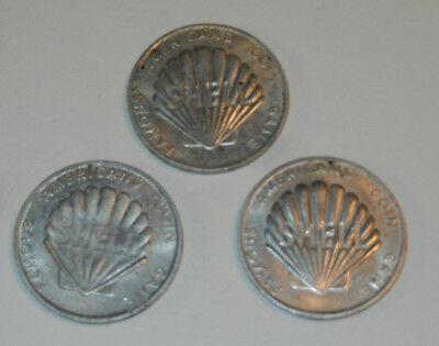 3 Shell Oil Company Game Tokens Famous Americans Coin Game Bell Einstein Revere