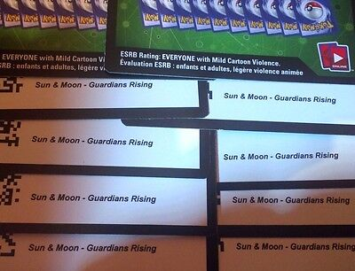 10x Pokemon Sun & Moon Guardians Rising Code's - Brand New Code Emailed