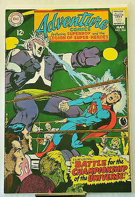 Adventure Comics #366 (1968) Neal Adams, Legion Clubhouse destroyed, VF range.