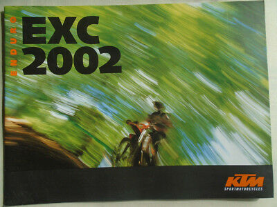 KTM Enduro EXC motorcycle brochure 2002 English text