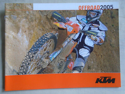 KTM Offroad motorcycle brochure 2005 English text