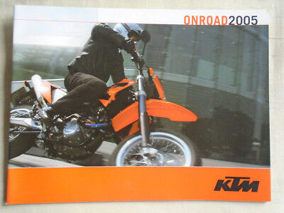 KTM Onroad motorcycle brochure 2005 English text