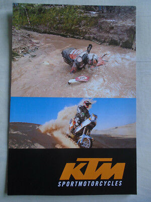 KTM range motorcycle poster brochure 2002 English & German text