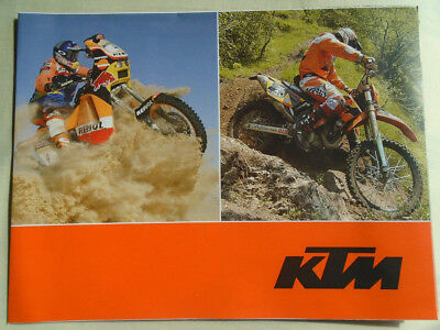KTM range motorcycle poster brochure 2005 English & German text