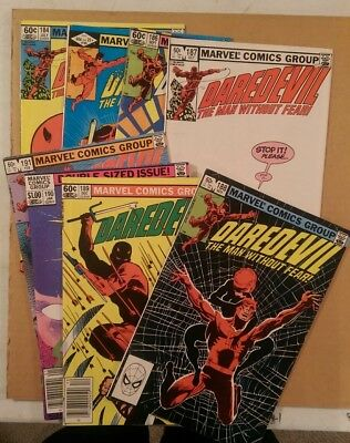 Frank Miller Daredevil Lot of 8 Bronze-Age Comics