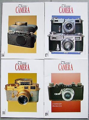 CLASSIC CAMERA MAGAZINE. 4 x ISSUES. 14, 17, 18 & 19 LEICA, CONTAX, ROLLEI etc