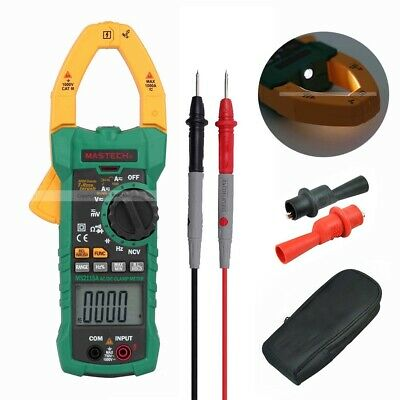 Mastech MS2115A 6000 Counts True RMS Digital Clamp Meter AC/DC V A INRUSH NCV