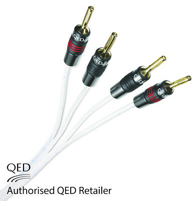 QED Silver Anniversary XT Bi-wire Cable 2+4 AIRLOC Forte Plugs Fitted 1 x 2m