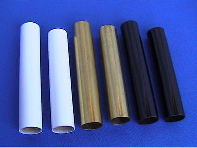 Woodturning Pen Kit Spares - CIGAR Brass Tubes x 3 pairs Brass/White/Black