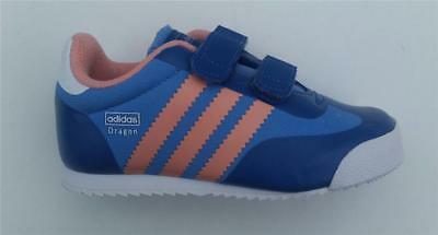 hot sales 3438c fdc1f Adidas infant girls dragon comfort trainer shoe m17105 velcro new bluepink  7k