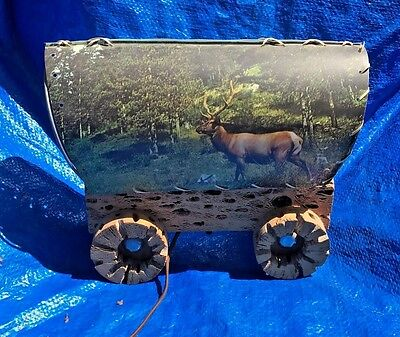 Vintage Western Cowboy Ranch TV Lamp Covered Wagon Light Scenic Cactus Shade!