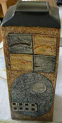Troika Pottery Cornwall Large Rectangular Vase signed JF (Jane FitzGerald)