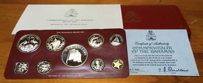 1976 BAHAMAS PROOF SET in STERLING SILVER..AS NEW.