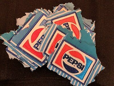 Small Lot of Vintage Pre-worn Pepsi Cola Patches from the 70s or 80s