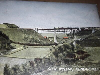 glen wyllin isle of man viaduct/railway early 1900's