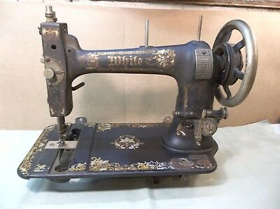 Antique WHITE treadle sewing machine 1890 model? Working