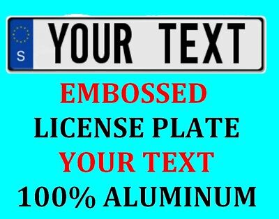 Sweden Swedish European Euro License Plate Number Plate Custom Text Customized