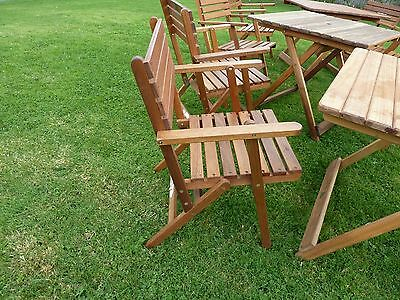 Quality Folding Foldable Garden Carver outdoor Dining Chairs Hard Wood Classic