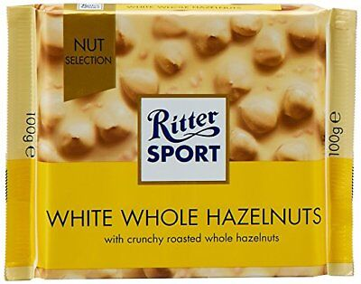 Ritter Sport White Whole Hazelnut 500gr (Pack of 5)