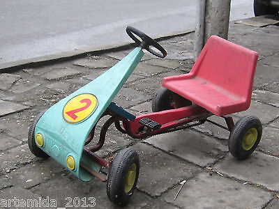 VERY RARE Old Vintage  Pedal CAR Go Cart 1970's