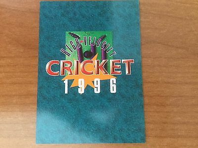 High Velocity - 1996 New Zealand Cricket Cards - Full Set of 99 cards - Mint