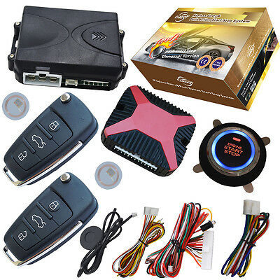 car remote keyless central lock system with ignition button start stop