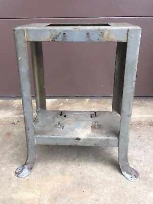 "Vintage Delta Rockwell Milwaukee Welded Band Saw 10"" Tilt Table Saw Flared Leg"