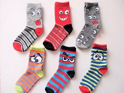 Pack of 3 Pairs Boys Kid's Novelty Funny Silly Socks Sizes 6-8.5, 9-12, 12-3.5