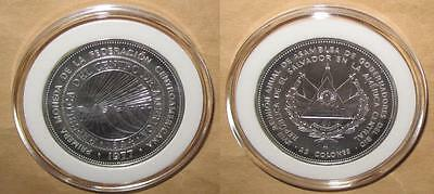 1977 EL SALVADOR 18th annual GOVERNORS ASSEMBLY AU+ Silver Coin