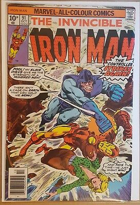 IRON MAN # 91 to # 93  ( 3 ISSUE RUN) 1ST SERIES 1976 MARVEL COMICS - the MELTER