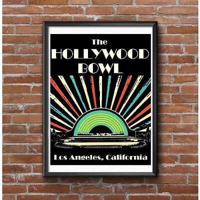 Art Deco Poster - Hollywood Bowl Los Angeles California Concert Venue