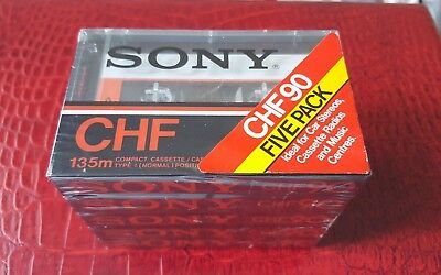 SONY CHF 90 (5 PACK) : Made in France : NEW & SEALED